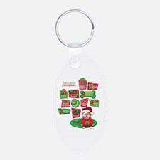12 Dogs of Christmas Keychains