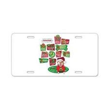 12 Dogs of Christmas Aluminum License Plate