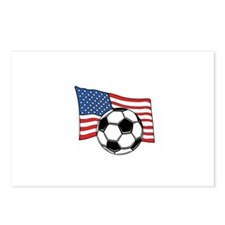 Cute Soccer ball america Postcards (Package of 8)