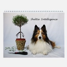 Cute Funny sheltie Wall Calendar