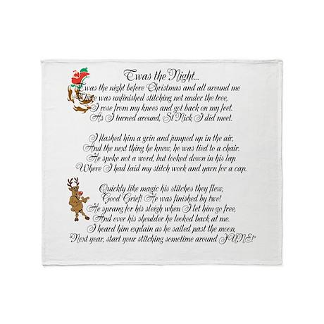 Twas the Night ... Throw Blanket