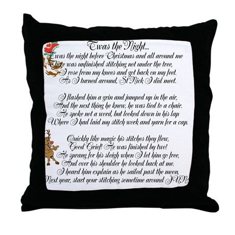 Twas the Night ... Throw Pillow