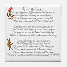 Twas the Night ... Tile Coaster