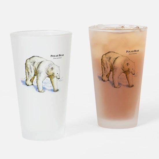 Polar Bear Drinking Glass