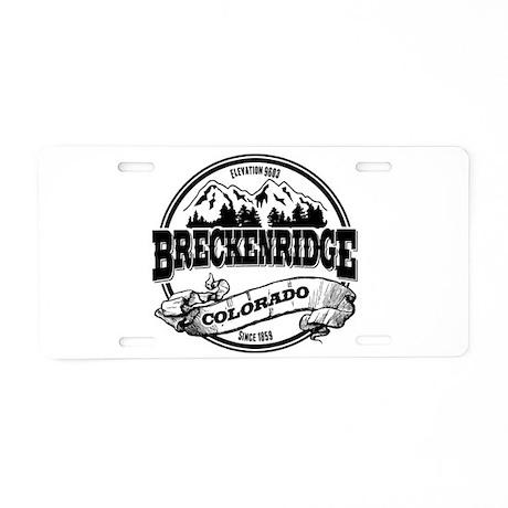 Breckenridge Old Circle 3 Aluminum License Plate