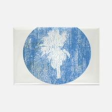 Vintage Palm Tree Rectangle Magnet