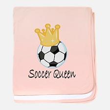 Soccer Queen baby blanket