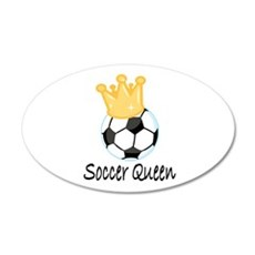 Soccer Queen 22x14 Oval Wall Peel