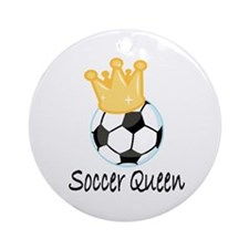 Soccer Queen Ornament (Round)
