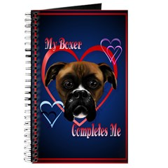 My Boxer Completes Me Journal