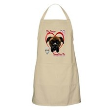 My Boxer Completes Me Apron