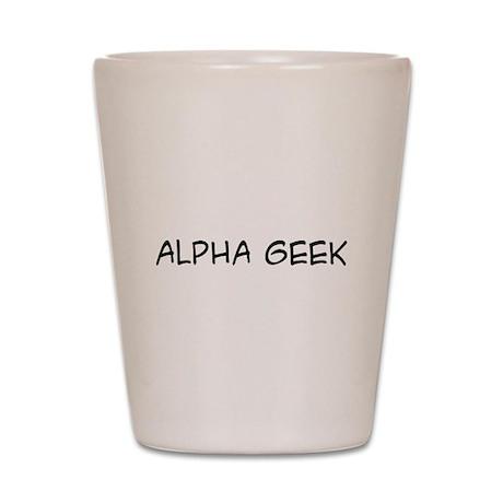 Alpha Geek Shot Glass