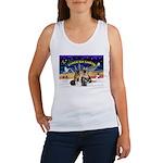 XmasSunrise-2Sheps-2cats Women's Tank Top
