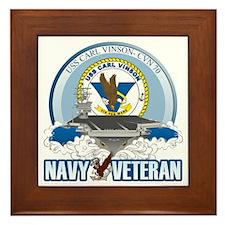 CVN-70 USS Carl Vinson Framed Tile
