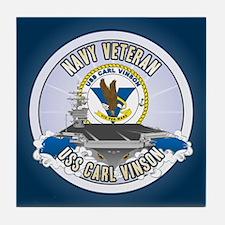 CVN-70 USS Carl Vinson Tile Coaster