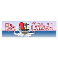 Navy Girlfriend Bumper Sticker