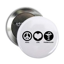 "Peace Love Pharmacology 2.25"" Button"