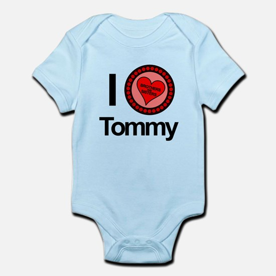 I Love Tommy Brothers & Sisters Infant Bodysuit