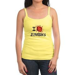 I Heart Zombies Jr.Spaghetti Strap