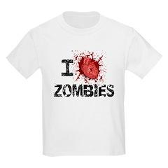 I Heart Zombies Kids Light T-Shirt