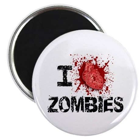 """I Heart Zombies 2.25"""" Magnet (10 pack)"""
