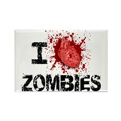 I Heart Zombies Rectangle Magnet (100 pack)