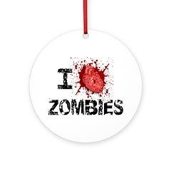 I Heart Zombies Ornament (Round)