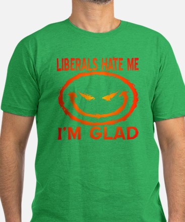 Liberals Hate Me Men's Fitted T-Shirt (dark)