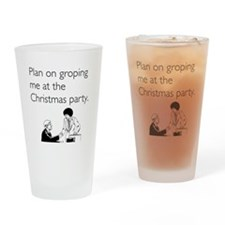 Christmas Party Groping Drinking Glass