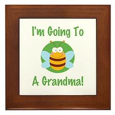 Bee A Grandma Framed Tile