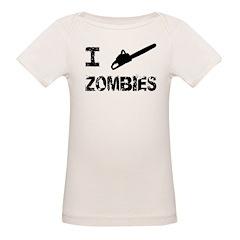 I Chainsaw Zombies Organic Baby T-Shirt