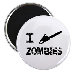 "I Chainsaw Zombies 2.25"" Magnet (10 pack)"