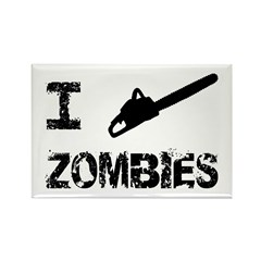 I Chainsaw Zombies Rectangle Magnet