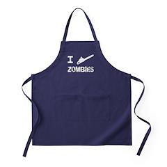 I Chainsaw Zombies Apron (dark)