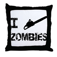 I Chainsaw Zombies Throw Pillow