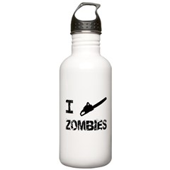 I Chainsaw Zombies Water Bottle