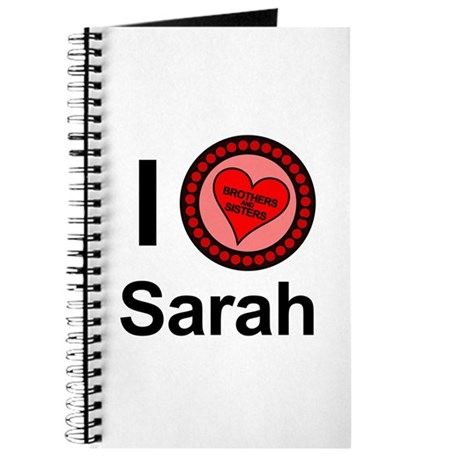 I Love Sarah Brothers & Sisters Journal