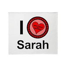I Love Sarah Brothers & Sisters Throw Blanket
