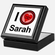 I Love Sarah Brothers & Sisters Keepsake Box