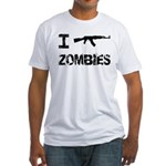 I Shoot Zombies Fitted T-Shirt