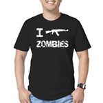 I Shoot Zombies Men's Fitted T-Shirt (dark)