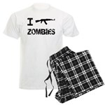 I Shoot Zombies Men's Light Pajamas