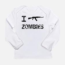 I Shoot Zombies Long Sleeve Infant T-Shirt