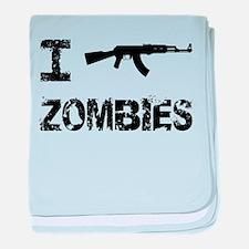 I Shoot Zombies baby blanket