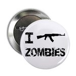 """I Shoot Zombies 2.25"""" Button (10 pack)"""