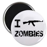 """I Shoot Zombies 2.25"""" Magnet (10 pack)"""