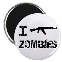 "I Shoot Zombies 2.25"" Magnet (100 pack)"