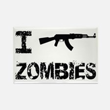 I Shoot Zombies Rectangle Magnet