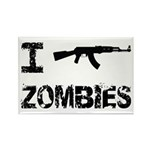 I Shoot Zombies Rectangle Magnet (100 pack)