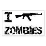 I Shoot Zombies Sticker (Rectangle)